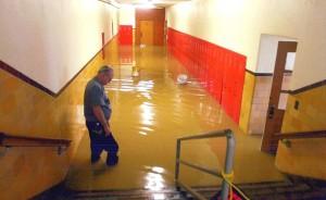 Commercial Water Damage In School